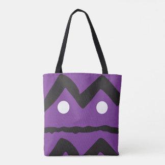 Purple geometric tote