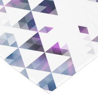 Purple Geometric Triangle Art Short Table Runner
