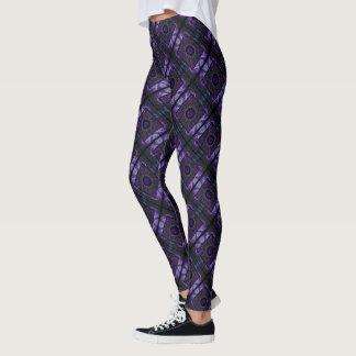Purple Geometry Leggings