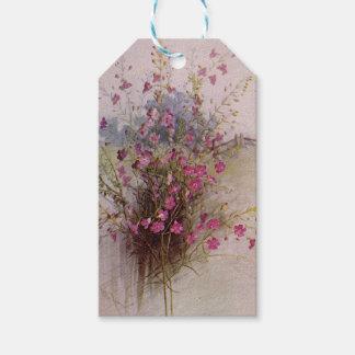 Purple Gerardia Vintage Botanical Floral Gift Tags