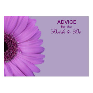 Purple Gerber Daisy Advice for the Bride Large Business Cards (Pack Of 100)
