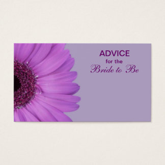 Purple Gerber Daisy Advice for the Bride Business Card