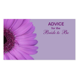 Purple Gerber Daisy Advice for the Bride Pack Of Standard Business Cards