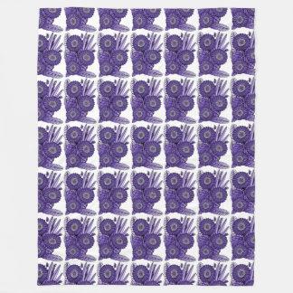 Purple Gerbera Daisy Flower Bouquet Fleece Blanket
