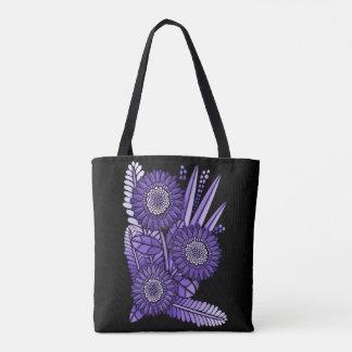 Purple Gerbera Daisy Flower Bouquet Tote Bag