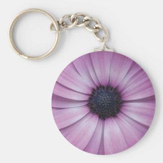 Purple Gerbera Daisy Flower key chain