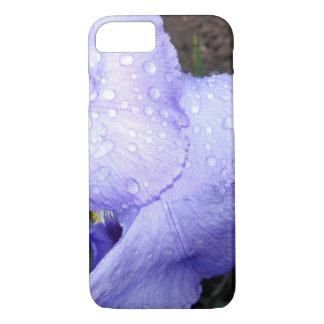 Purple German Iris And Some Raindrops iPhone 7 Case