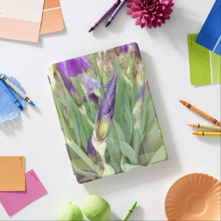 Purple German Iris Buds iPad Cover