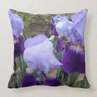 Purple German Irises Cushion