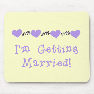 Purple Getting Married Tshirts and Gifts Mouse Pad