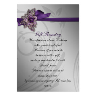 purple Gift registry  Cards Business Card Template
