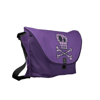 Purple Gingham Pirate Bag Commuter Bag