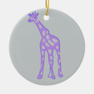 PURPLE Giraffe Christmas Ornament