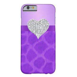 Purple Giraffe Diamond Heart iPhone 6 Case Barely There iPhone 6 Case