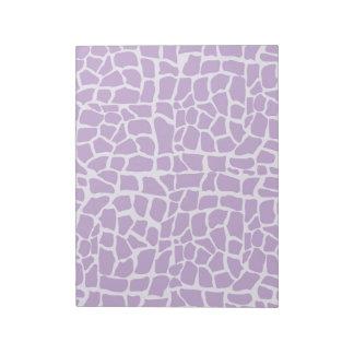 Purple giraffe pattern mosaic notepad
