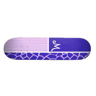 Purple Giraffe Pattern Custom Skateboard