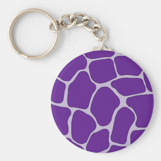 Purple Giraffe Print Pattern Keychain