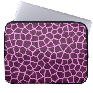 Purple giraffe skin print laptop computer sleeve
