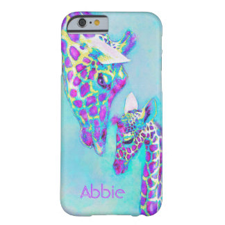 purple giraffes-moma and baby barely there iPhone 6 case