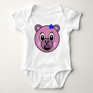 Purple Girl Bear Baby Bodysuit