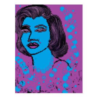 Purple Girl Design Postcard