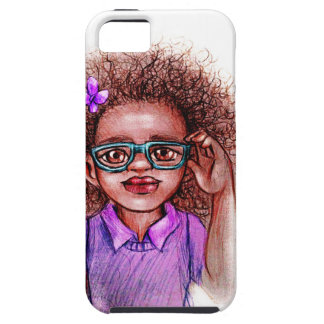 Purple Girl with Glasses Case For The iPhone 5