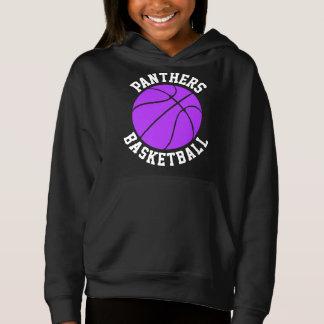 Purple Girls Customizable Basketball Sweatshirt