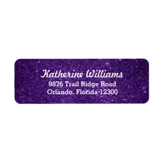 Purple Glam Faux Glitter