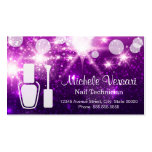 Purple Glamour NAIL TECHNICIAN Appointment Card Pack Of Standard Business Cards