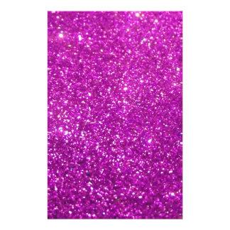 Purple Glamour Sparkley Custom Stationery