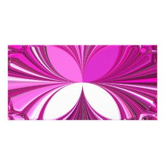 Purple Glass Stones Photo Greeting Card
