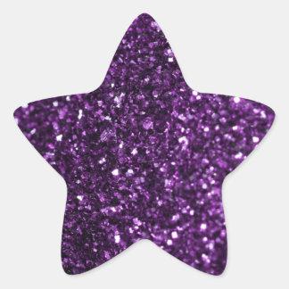 Purple Glimmer Star Sticker