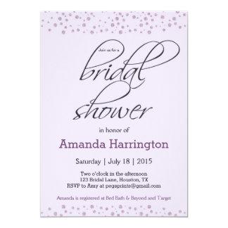 Purple Glitter Bridal Shower Invitation - Elegant