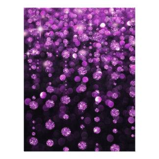 Purple Glitter Diamonds Flyer Design