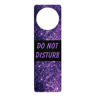 Purple Glitter  | Do Not Disturb Sign