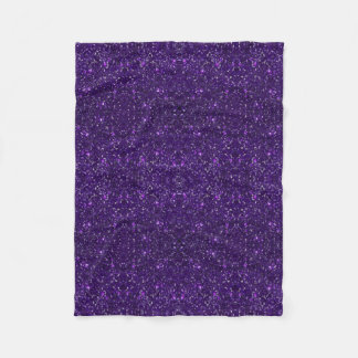 Purple Glitter Fleece  Blanket