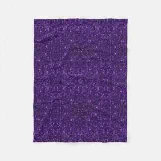 Purple Glitter Fleece  Blanket Fleece Blanket