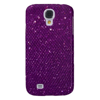 Purple Glitter Galaxy S4 Case