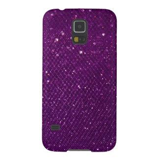 Purple Glitter Galaxy S5 Case