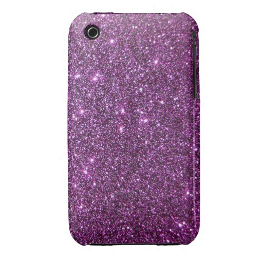Purple Glitter Glam Sparkles -Faux Design iPhone 3 Cover