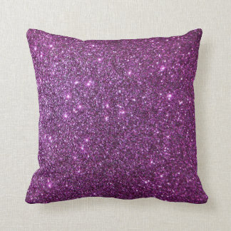 Purple Glitter Glam Sparkles -Faux Design Cushions