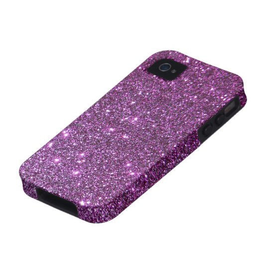 Purple Glitter Glam Sparkles -Faux Design iPhone 4 Cover
