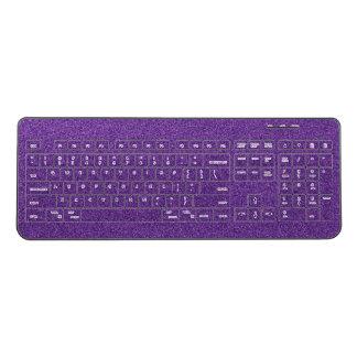 Purple Glitter Keyboard