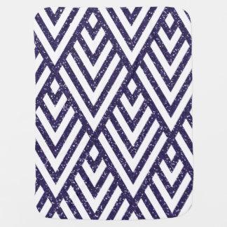 Purple Glitter Line Pattern on Baby Blanket