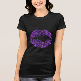 Purple Glitter Lips T-Shirt