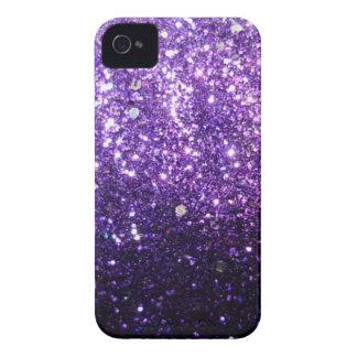 Purple Glitter look iPhone 4 Case