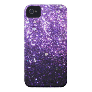 Purple Glitter look iPhone 4 Covers