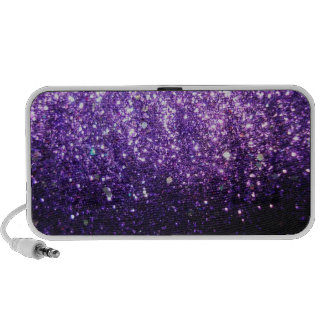 Purple Glitter look iPhone Speaker