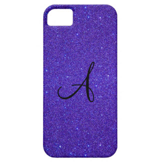 Purple glitter monogram iPhone 5 cover