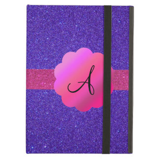 Purple glitter monogram case for iPad air